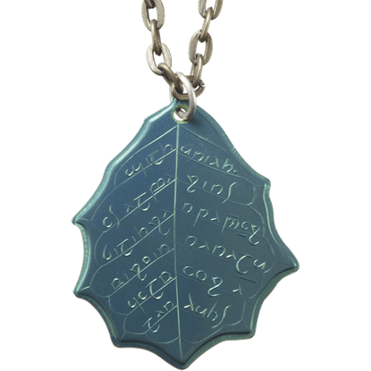 Elvish Mithril Leaf of Spring Necklace