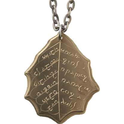 Elvish Leaf of Summer Necklace