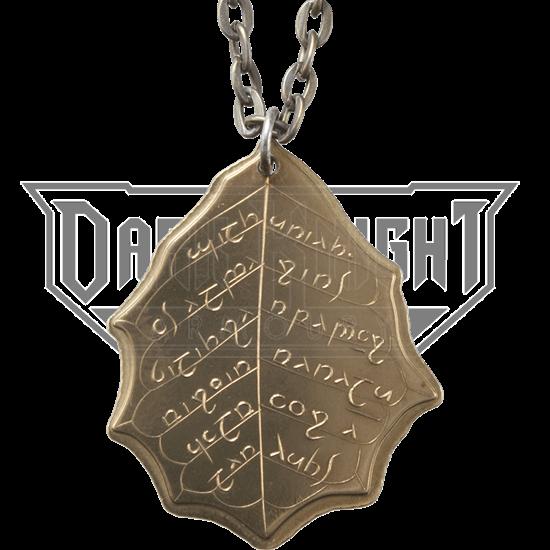 Elvish Leaf of Summer Necklace