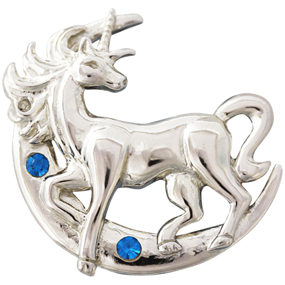 Lunar Unicorn Necklace by Anne Stokes