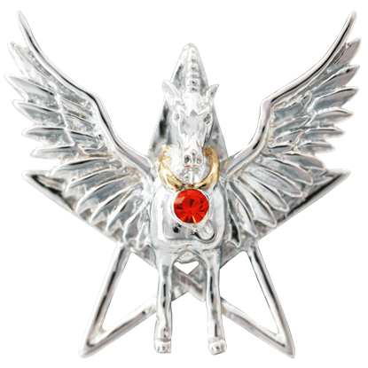 Divine Pegasus Necklace by Anne Stokes