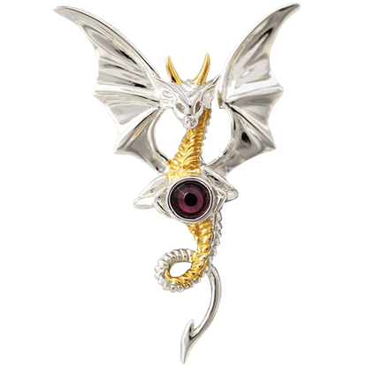 Celestial Dragon Necklace by Anne Stokes