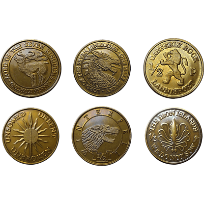 Game of Thrones 6-Piece Half Penny Set
