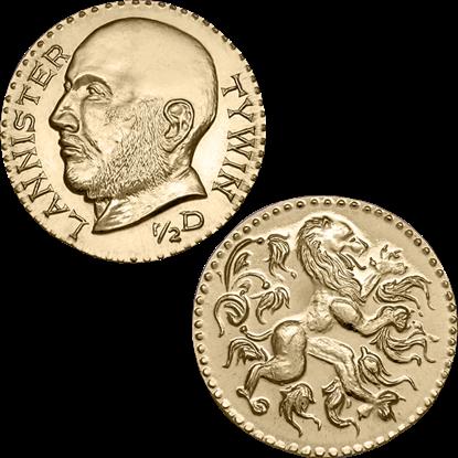 Tywin Lannister Golden Half Dragon