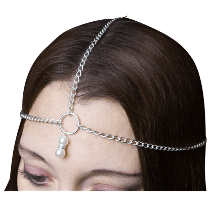 Chained Pearl Headpiece