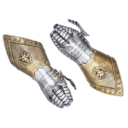 Embossed Steel Gauntlets