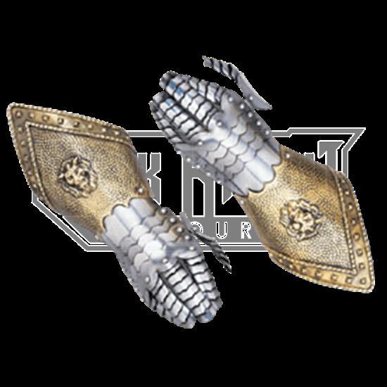 Embossed Steel Gauntlets