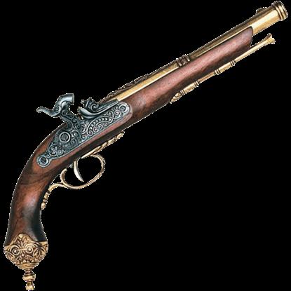 1825 Italian Percussion Pistol Brass