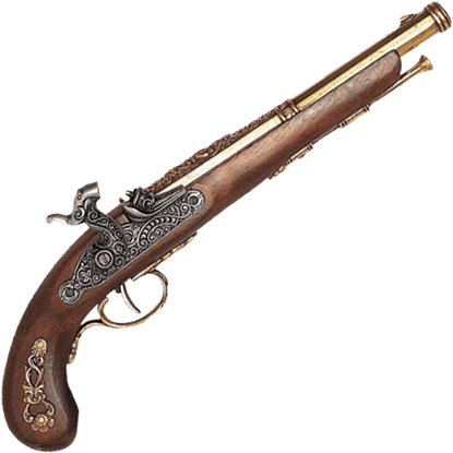 19th Century French Percussion Dueling Pistol Brass