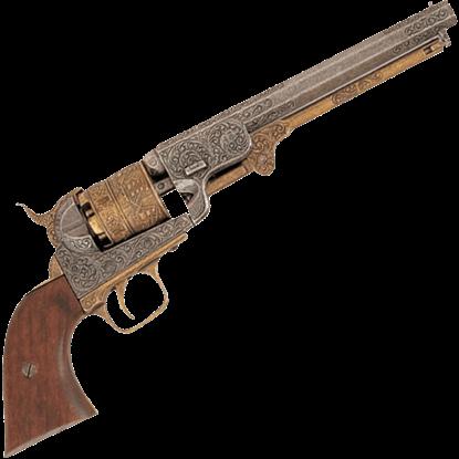 1851 Engraved Navy Revolver Brass