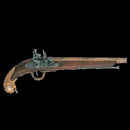 18th Century German Flintlock Pistol Brass