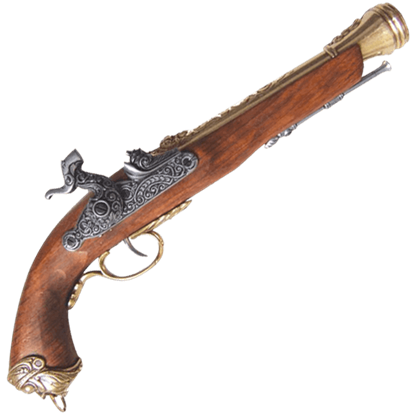 Brass 19th Century Percussion Cap Pistol