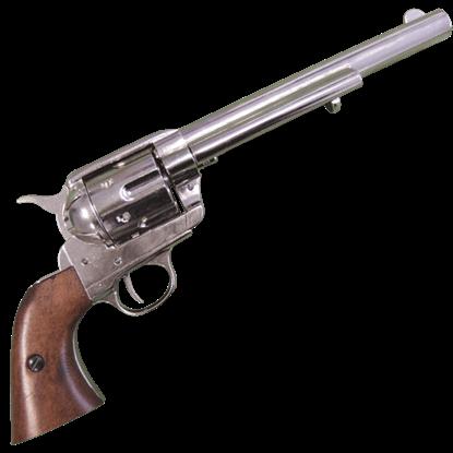 Nickel 1873 45 Caliber Revolver
