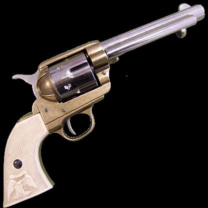 Nickel and Brass 1873 45 Caliber Western Revolver