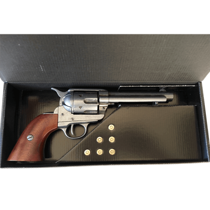 Nickel 1873 .45 Colt Peacemaker Box Set