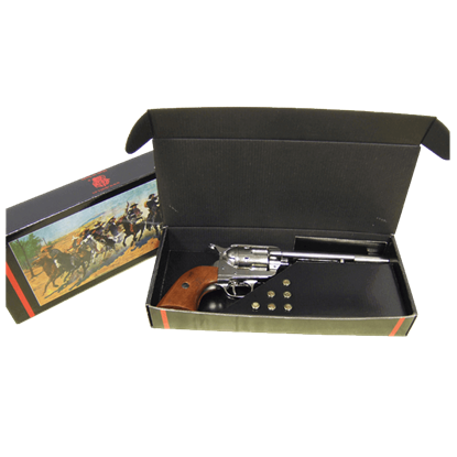Nickel Colt 1873 Cavalry Revolver Set