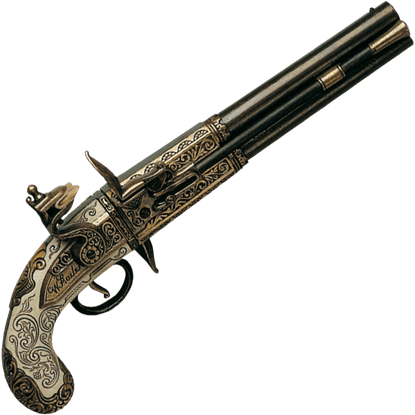 Black Brass 1750 Double Barrel Flintlock