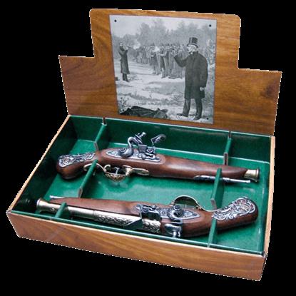 18th Century British Dueling Pistols Brass