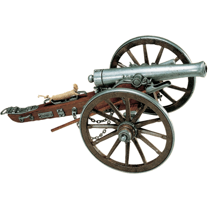Grey 1861 Civil War Cannon USA