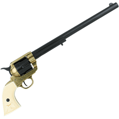 Ivory Grip .45 Caliber 1873 Buntline Revolver
