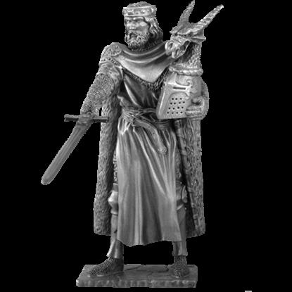 Pewter King Arthur Sculpture