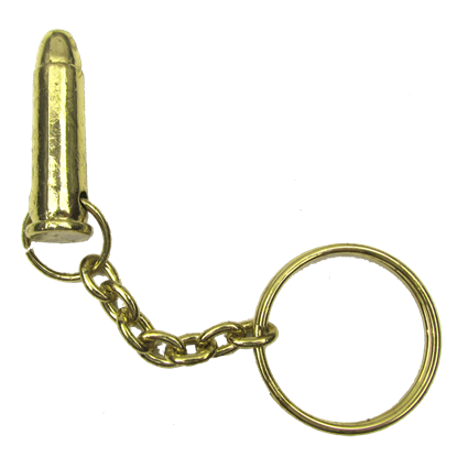 Brass Bullet Key Chain