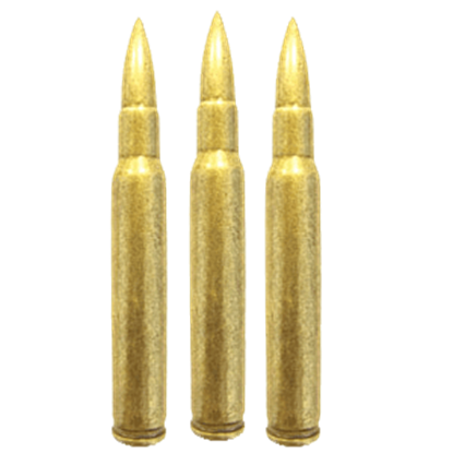 Replica Garand Rifle Bullets - Package of 6