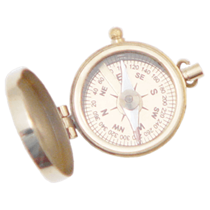 Brass Civil War Officers Pocket Compass
