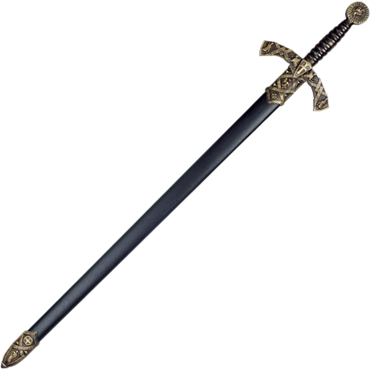 Black Crusader Sword With Scabbard