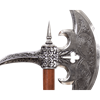 16th Century German Silver Battle Axe
