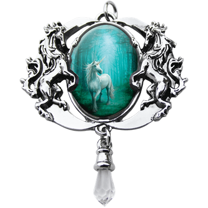 Forest Unicorn Cameo Necklace