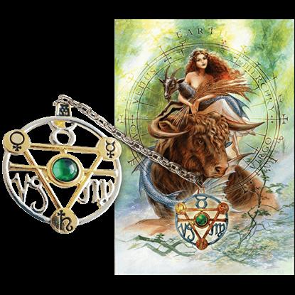 Earth Element Talisman and Card Set