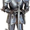 15th Century German Full Suit of Armor with Sword