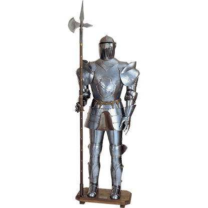 16th Century Italian Full Suit of Armor with Halberd