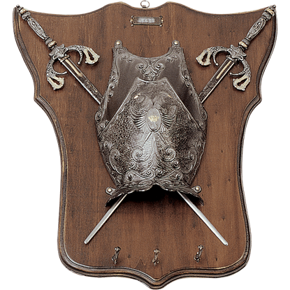 Mini Armour and Weapons Plaque with Pegs