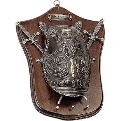 Miniature Swords and Armour Plaque with Pegs