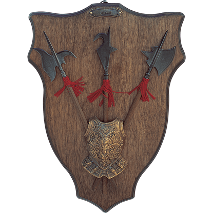 Heraldic Halberds Display Plaque