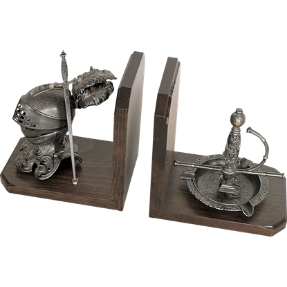 Heraldic Knight and Sword Bookends