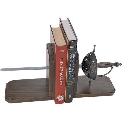 Cup Hilted Rapier Bookends