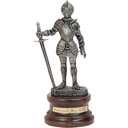 Mini Pewter Knight with Longsword