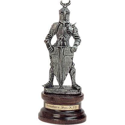 Mini Pewter Knight with Shield