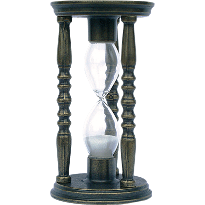 Bronze Old World Hourglass