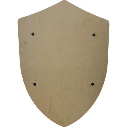 Plain Wooden Battle Shield