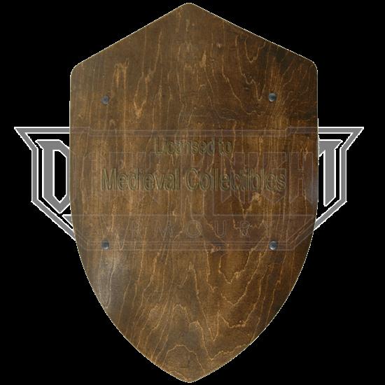 Dark Finished Wooden Battle Shield