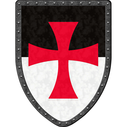Templar Knight Steel Battle Shield