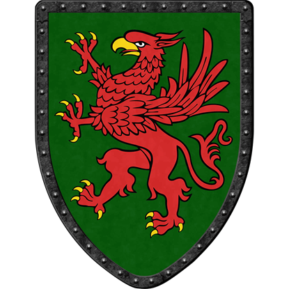 Griffon on Green Steel Battle Shield