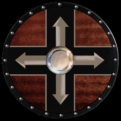 Wooden Viking Berserker Shield (Four Arrows)