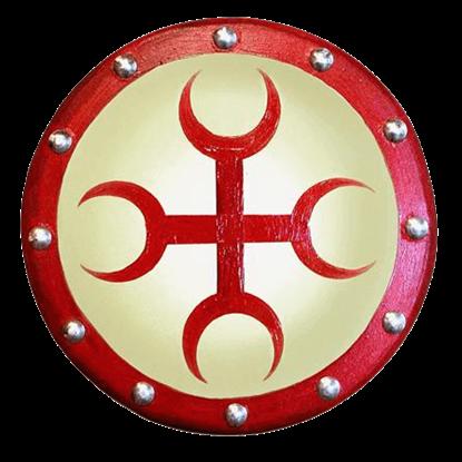 Wooden Moon Cross Buckler Shield