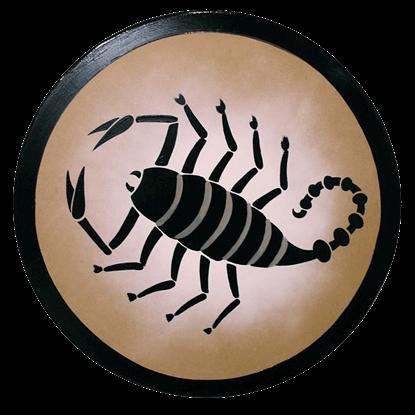 Wooden Greek Scorpion Shield