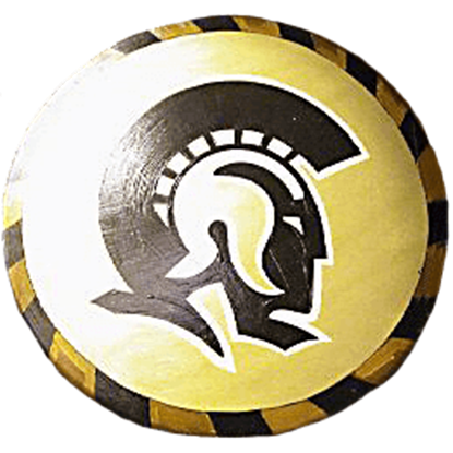 Wooden Gold Trojan Warrior Shield